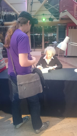 Margaret Atwood signing my copy of Maddaddam