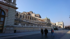 The beginning of the climb up to Buda Castle
