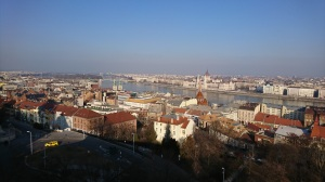 One of the views of Budapest from Buda Castle