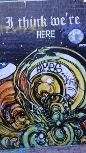 One of the pieces of street art/graffiti from Hosier Lane