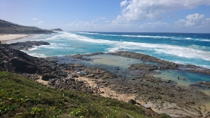 The Champagne Pools on Fraser Island