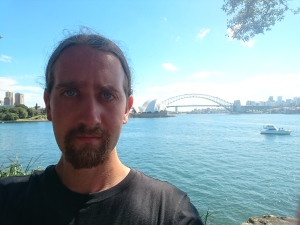 Obligatory selfie with Sydney Opera House and Harbour Bridge