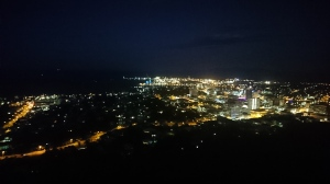 Townsville at night, from Castle Hill