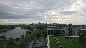 Balcony view of south Melbourne