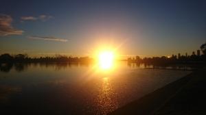 Sunset in Melbourne's Albert Park