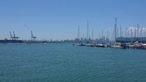 Melbourne CBD from Williamstown
