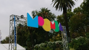 The Moomba festival sign