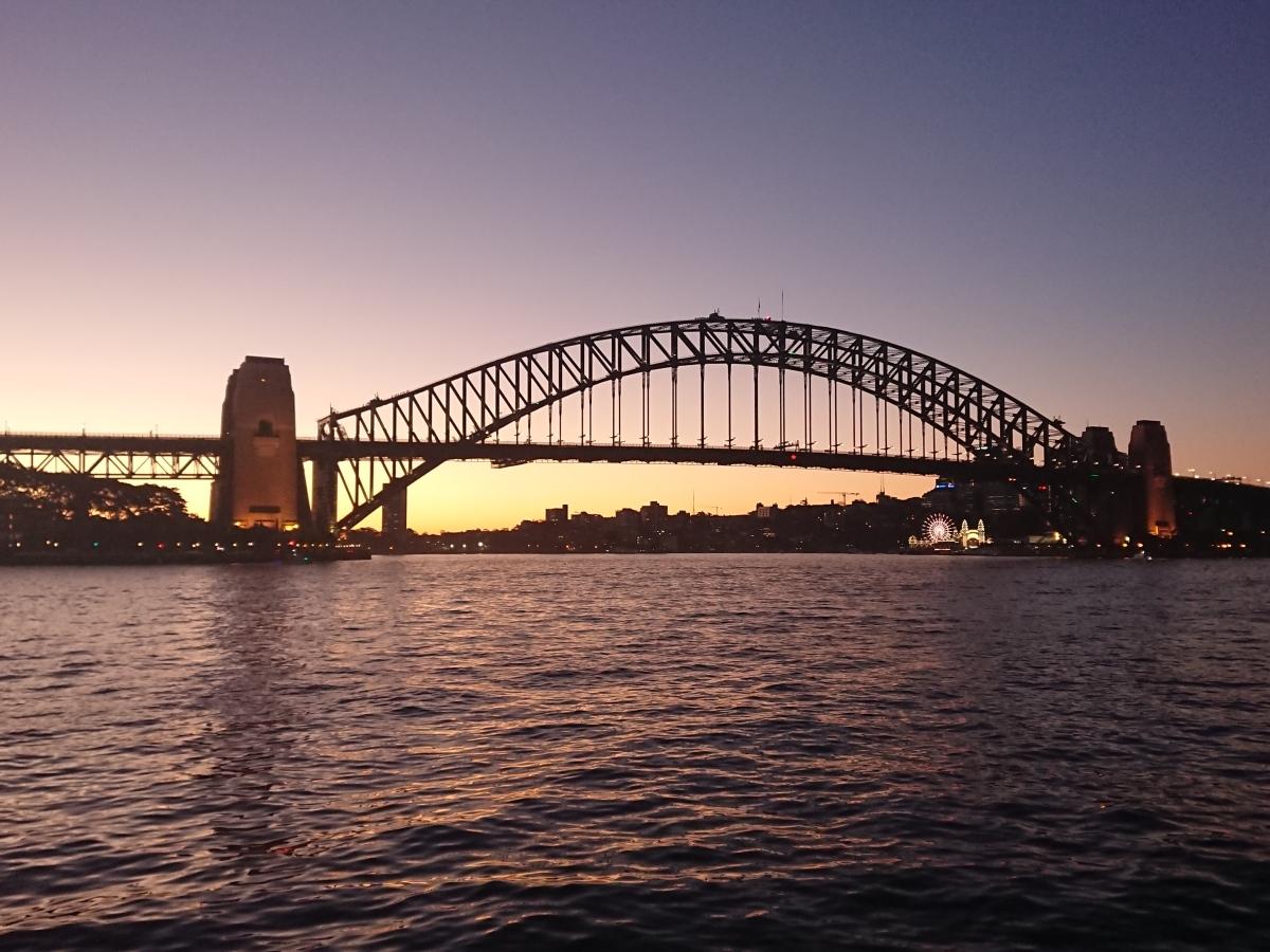 Sunset with Sydney Harbour Bridge