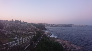Cemetery bordering one point of the Bondi to Coogee walk