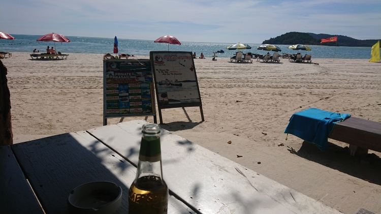 The view from Ah Chong Beach Bar during the day