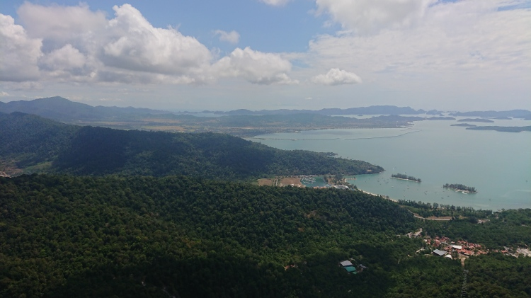 The breathtaking view from the top of Langkawi cable car