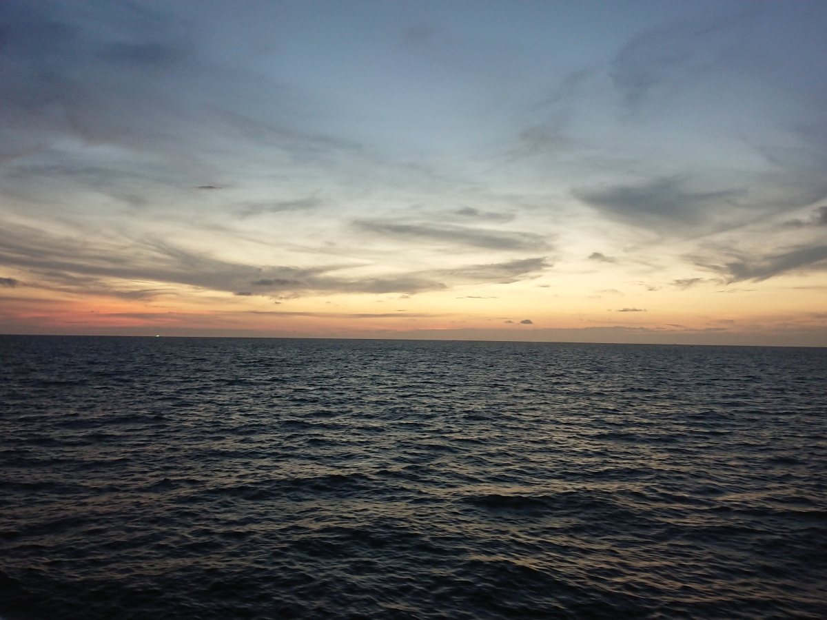 One of the sunsets from the cruise ship
