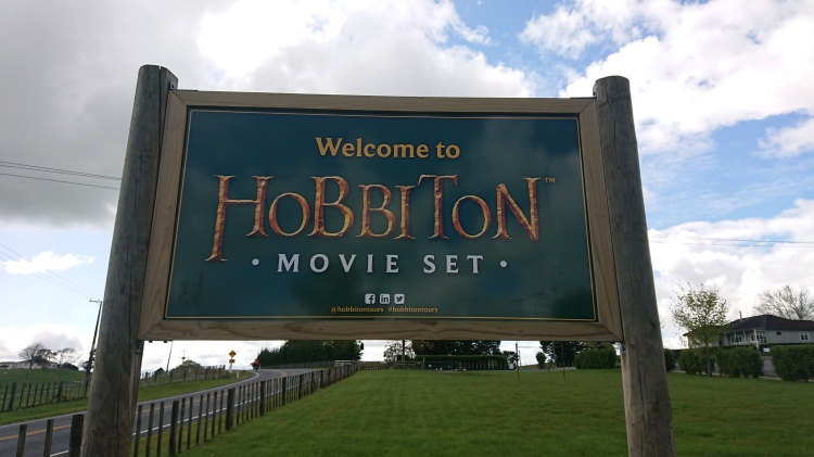 The sign for the Hobbiton Movie Set