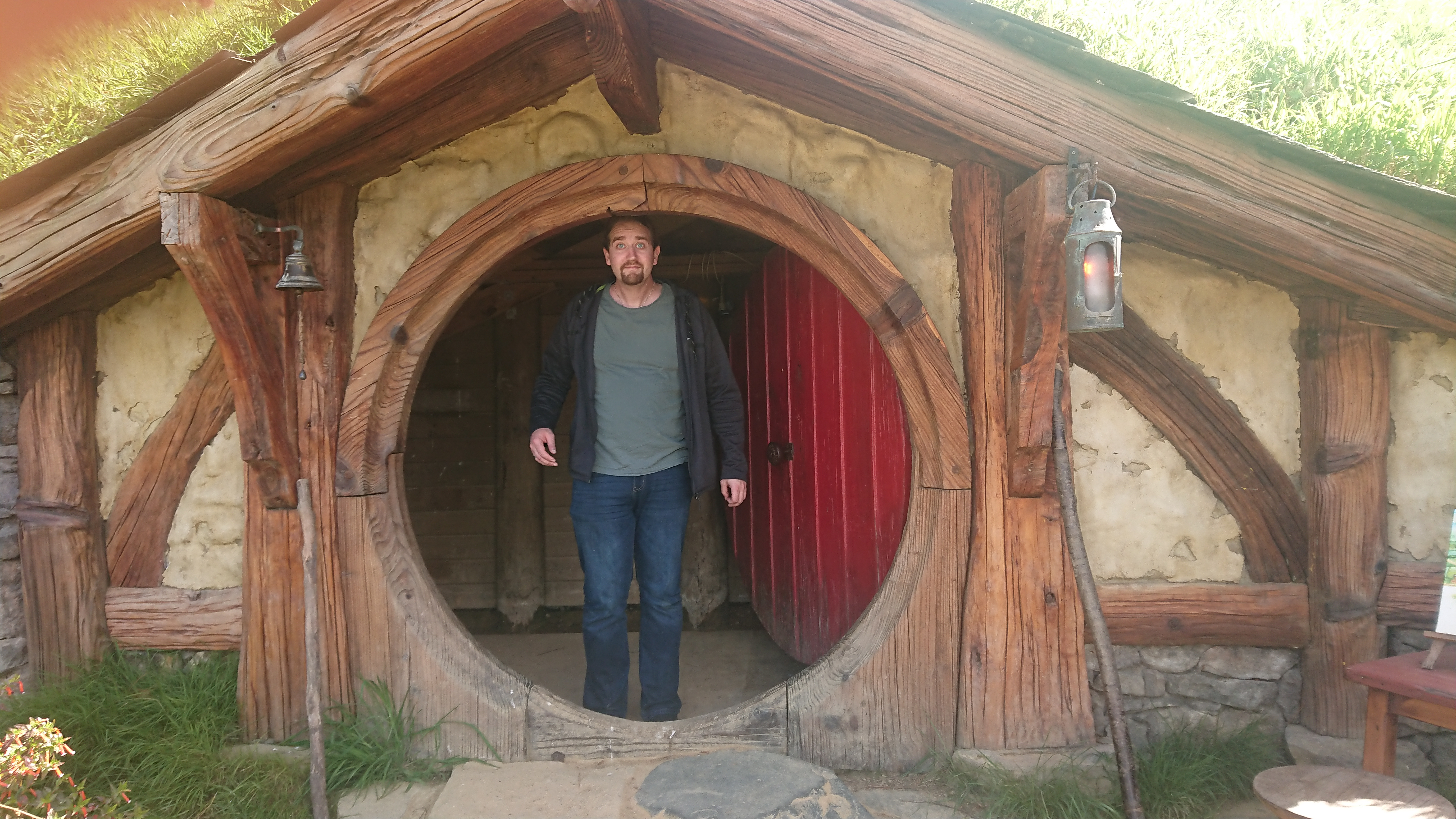 A Hobbit hole that I can (almost) fit in!