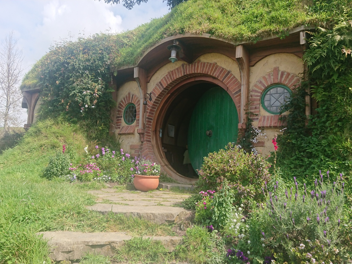 Bag End, the home of Frodo and Bilbo Baggins at Hobbiton