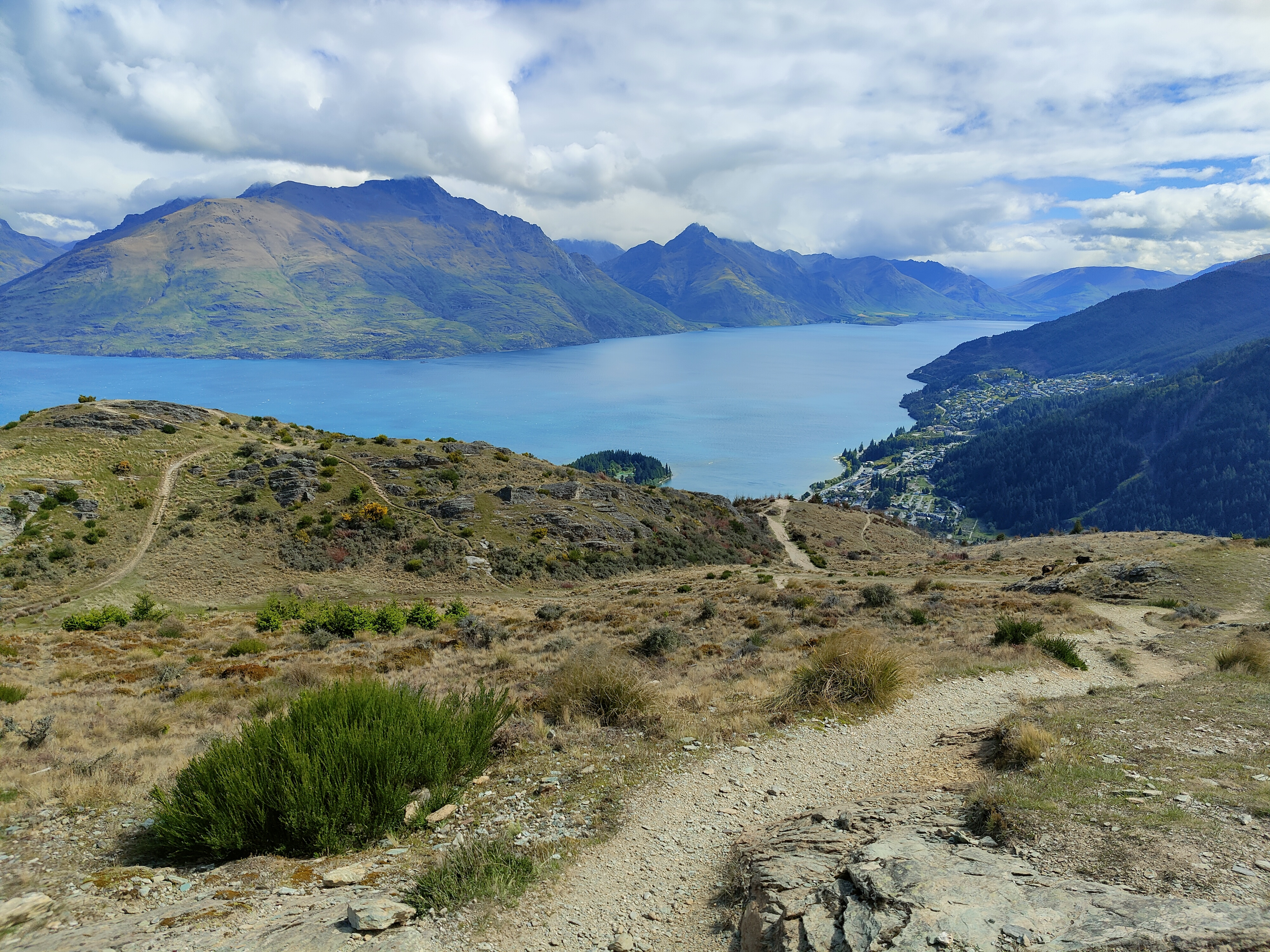 The view from the top of Queenstown Hill is stunning