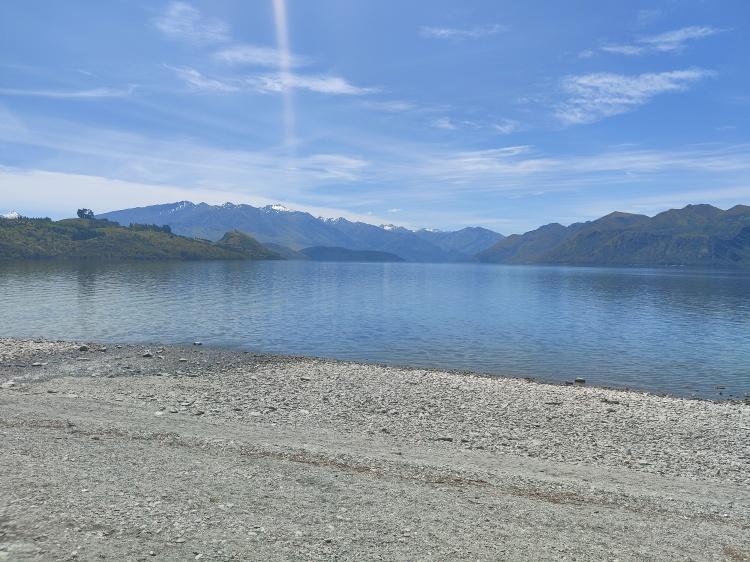 The view across Lake Wanaka from Waterfall Creek