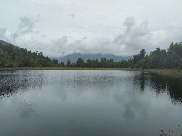 Lake Matheson, near Fox Glacier, but without the still reflection I wanted