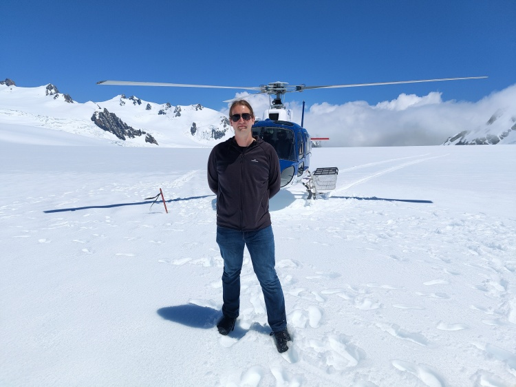 Me standing on the Franz Josef Glacier