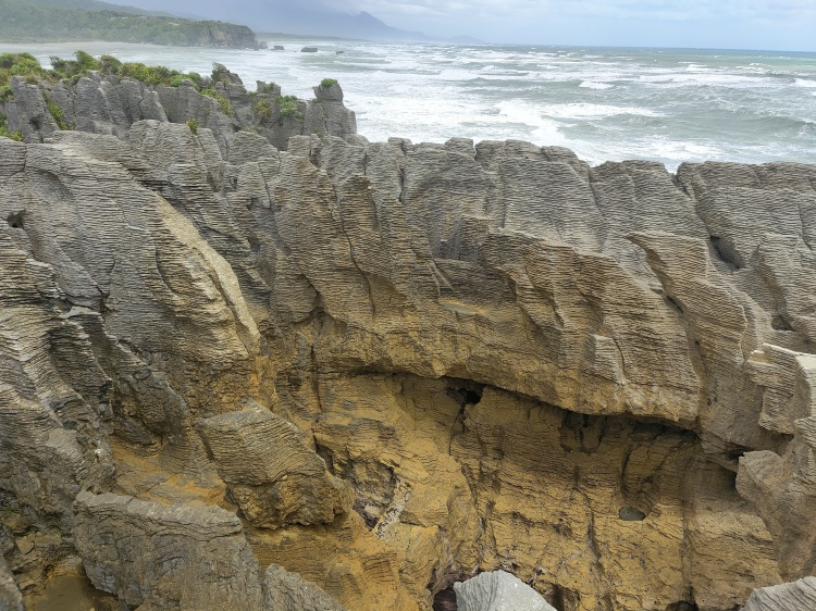 Above the blowhole at the Pancake Rocks