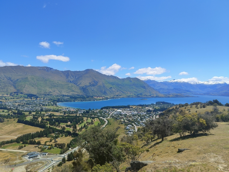 Wanaka and the lake from Mt Iron