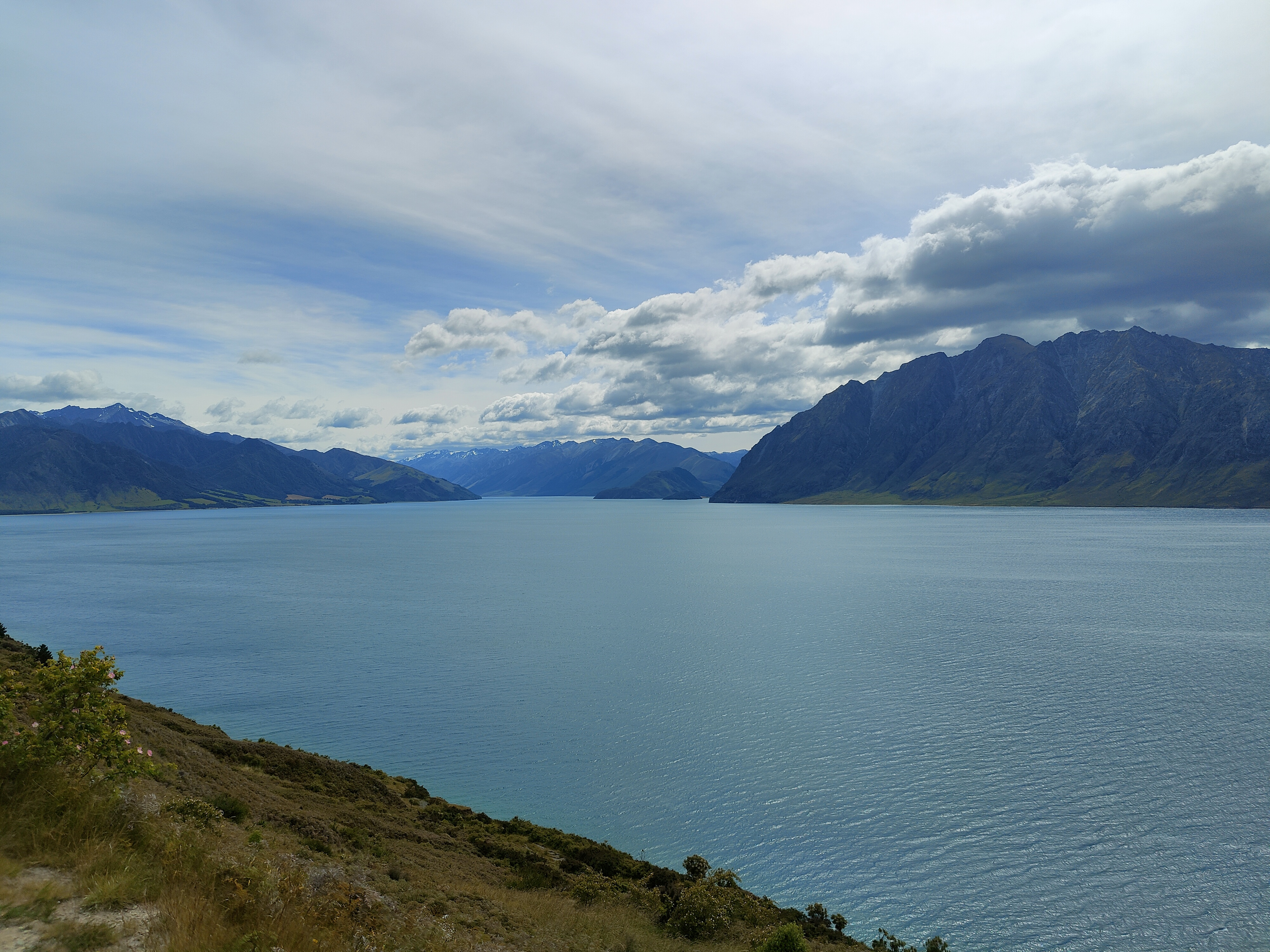 Lake Hawea stretches into the distance