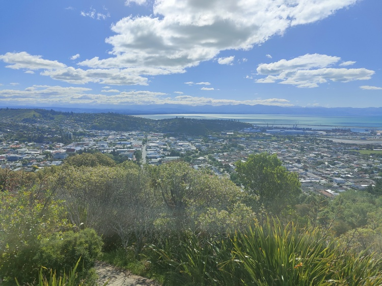 View over Nelson from the geographical center of Aotearoa New Zealand