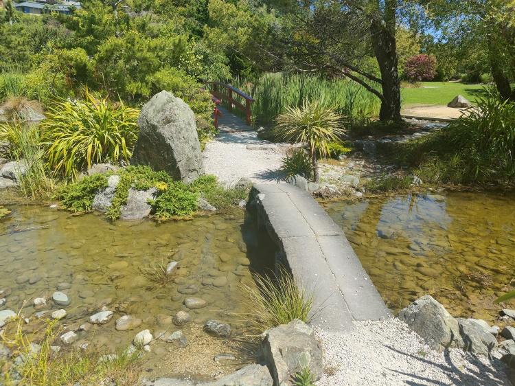 A little bridge at the Miyazu Gardens in Nelson