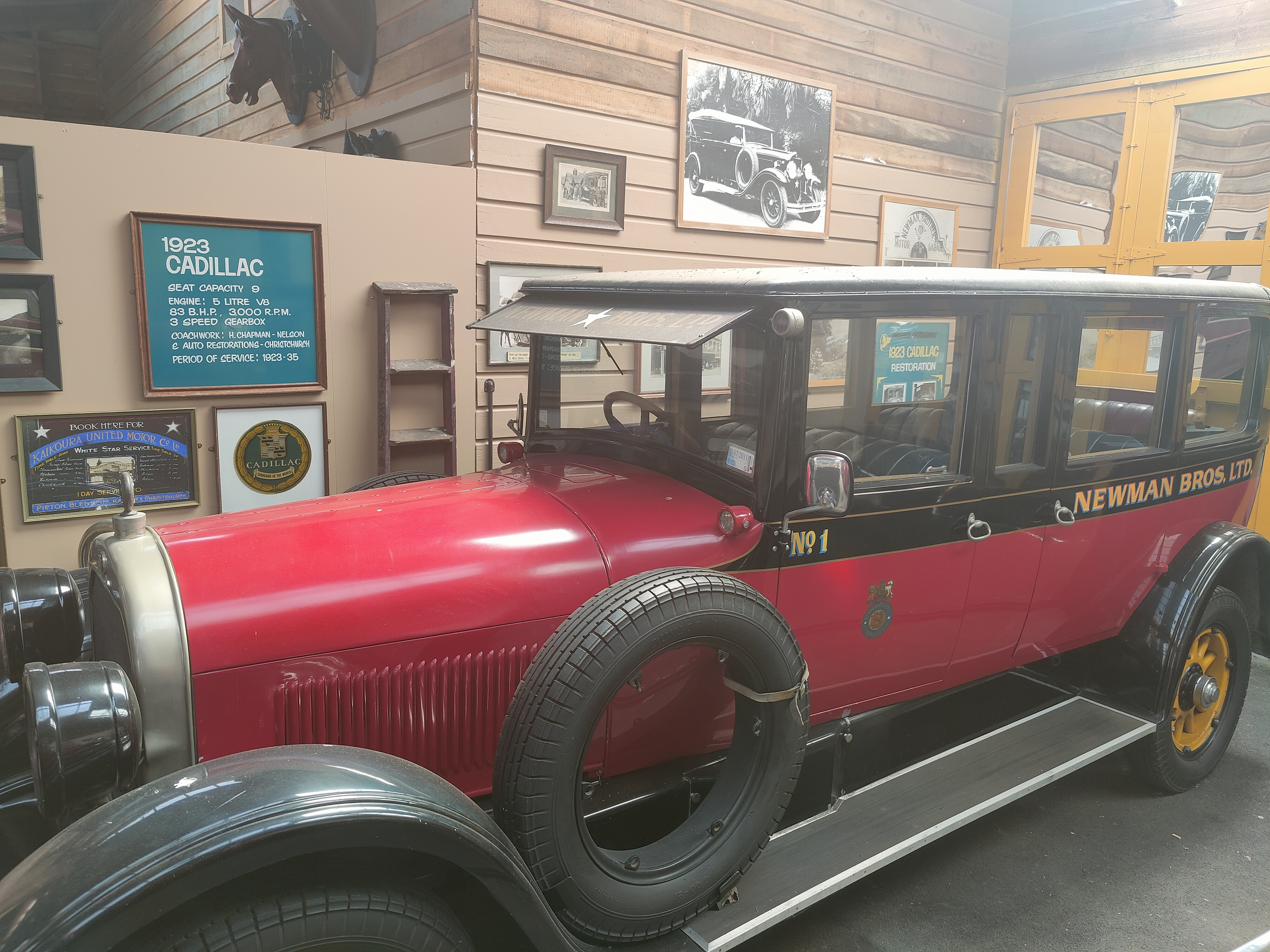 A car at the Founders Heritage Park