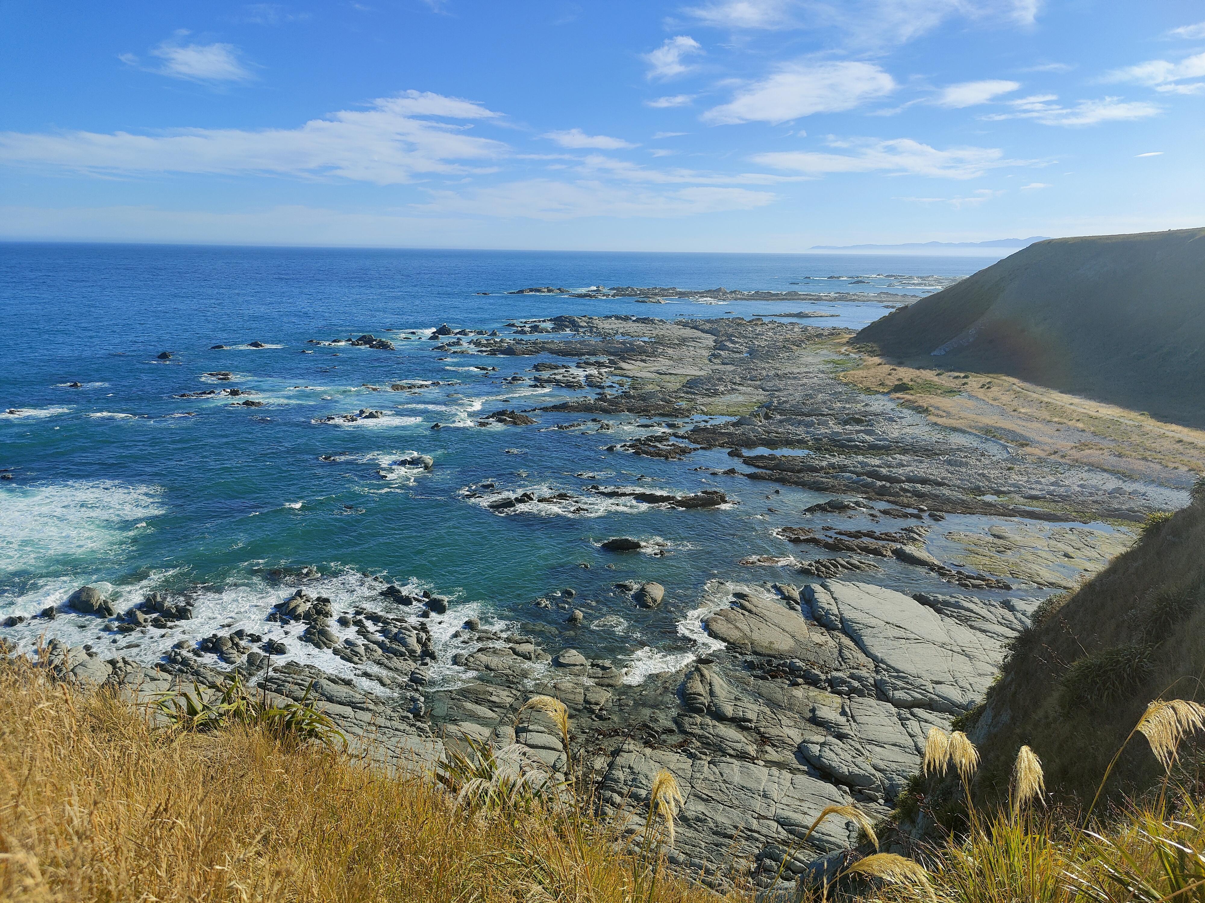 One of the rocky bays seen on the Kaikoura Peninsula Walkway