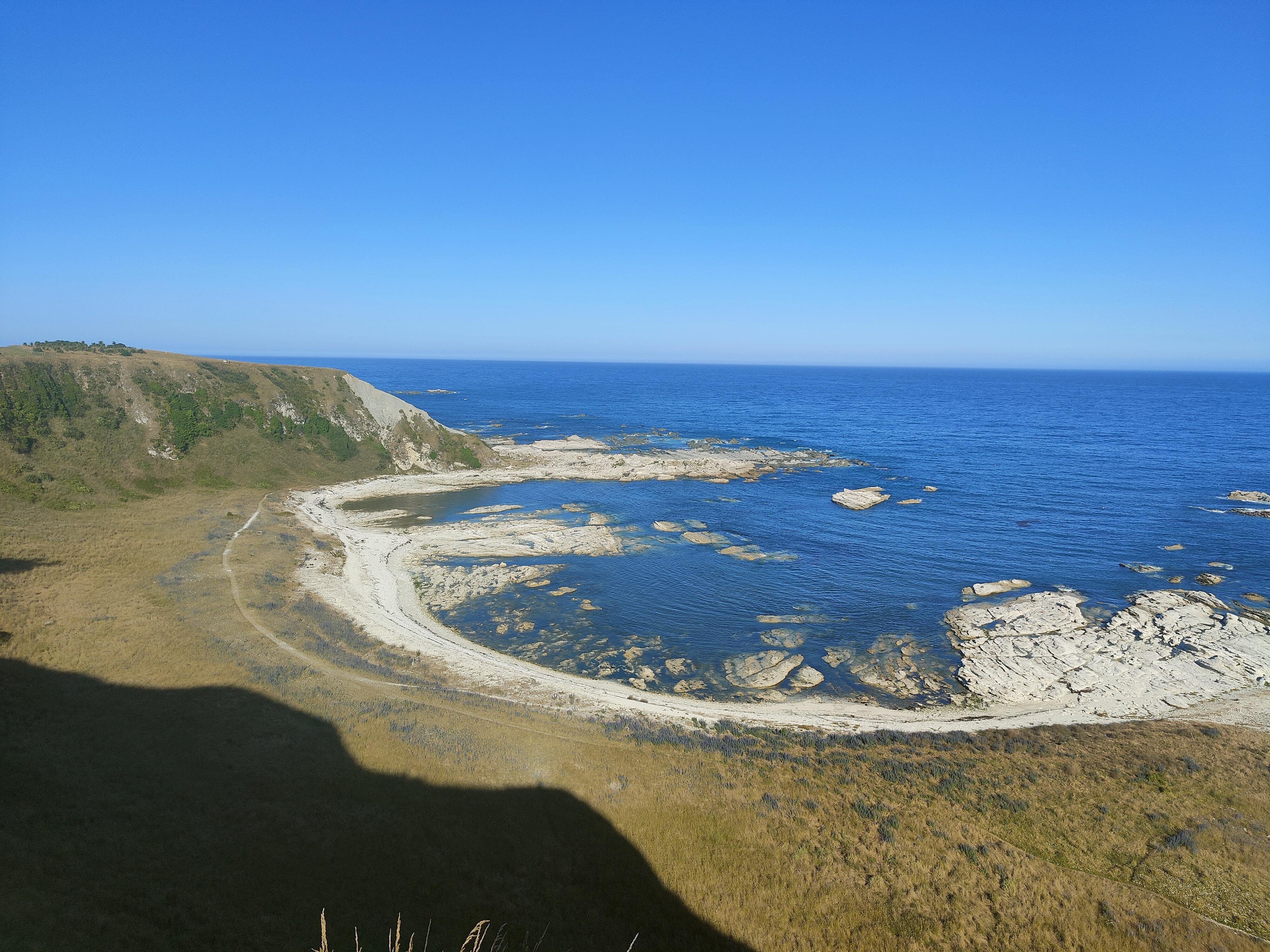 Looking down from the Kaikoura Peninsula Walkway