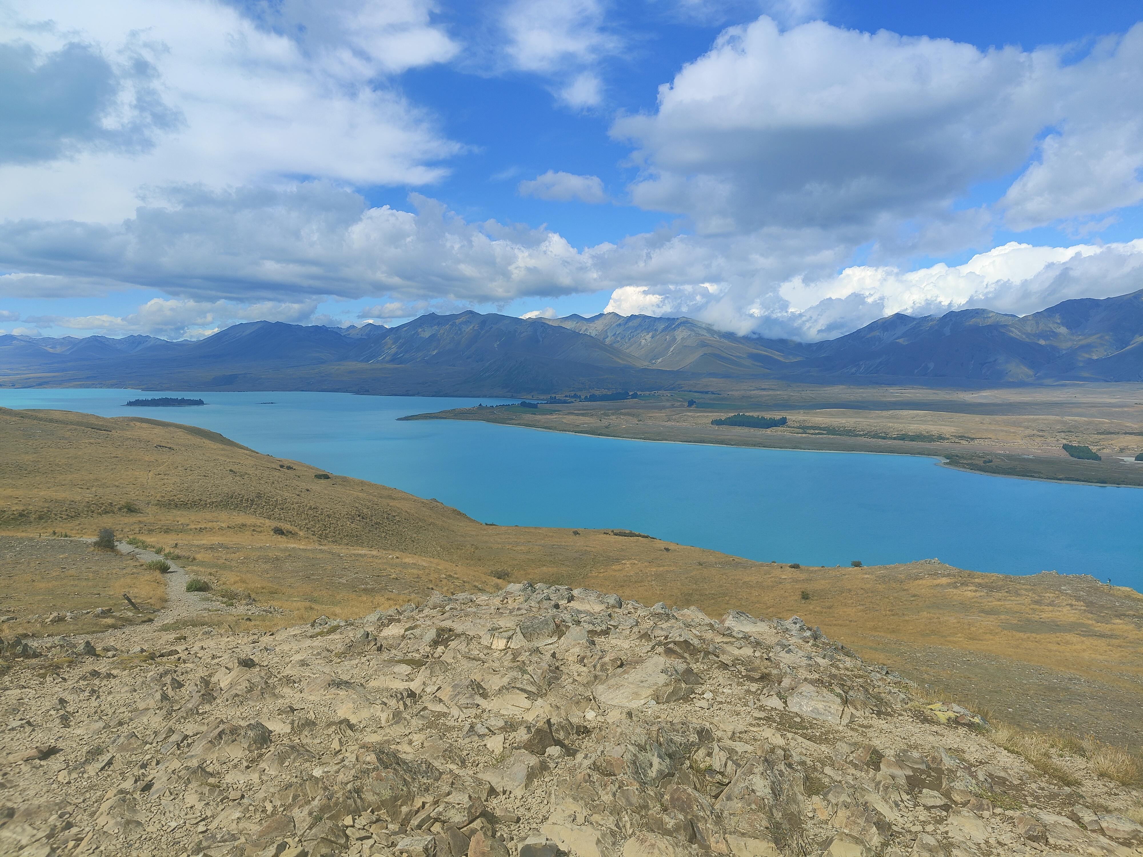 Lake Tekapo from the summit of Mt John
