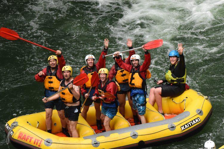 A group shot on the Kaituna River