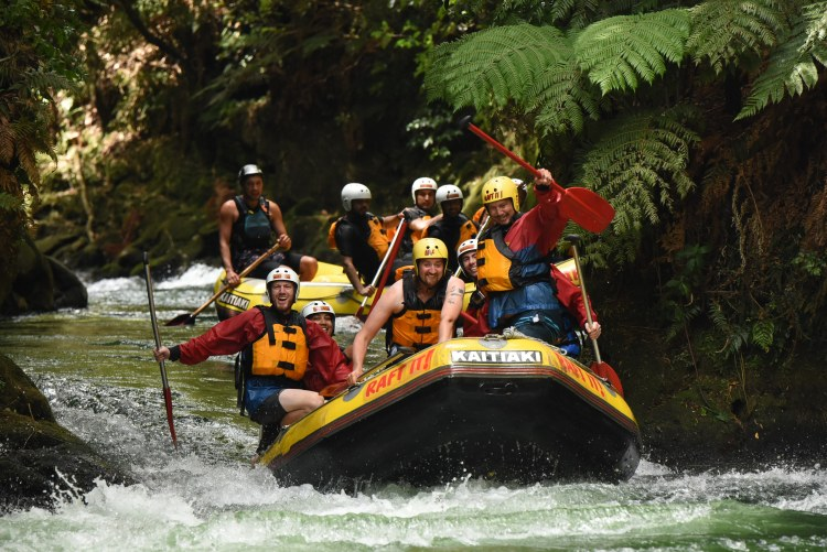 Getting ready for some more rapids on the Kaituna River
