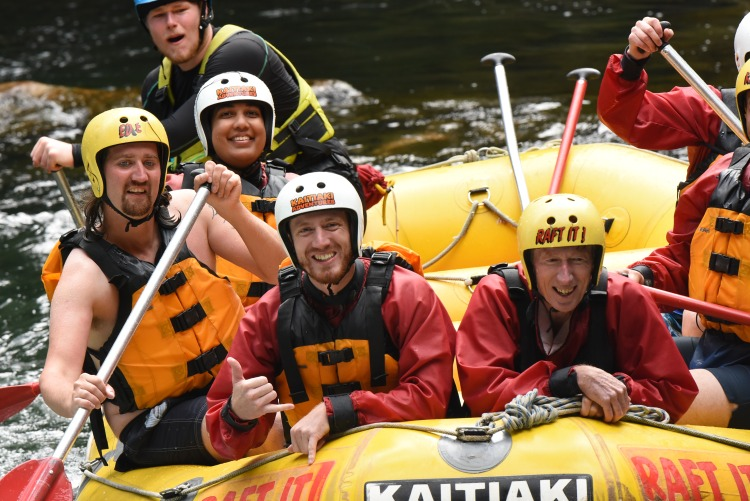 Rafting in action on the Kaituna River