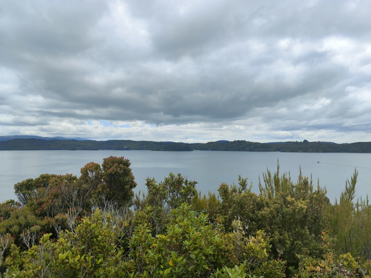 Looking back at Stewart Island from Ulva Island