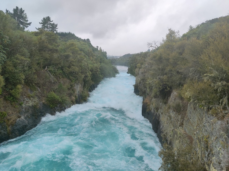 The bottom of Huka Falls