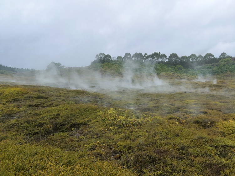 Steam rising from the ground at Caters of the Moon