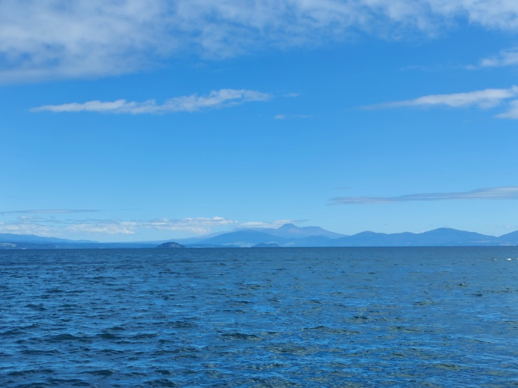 Mt Doom in the distance across Lake Taupo