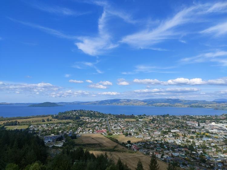 The view from Skyline Rotorua