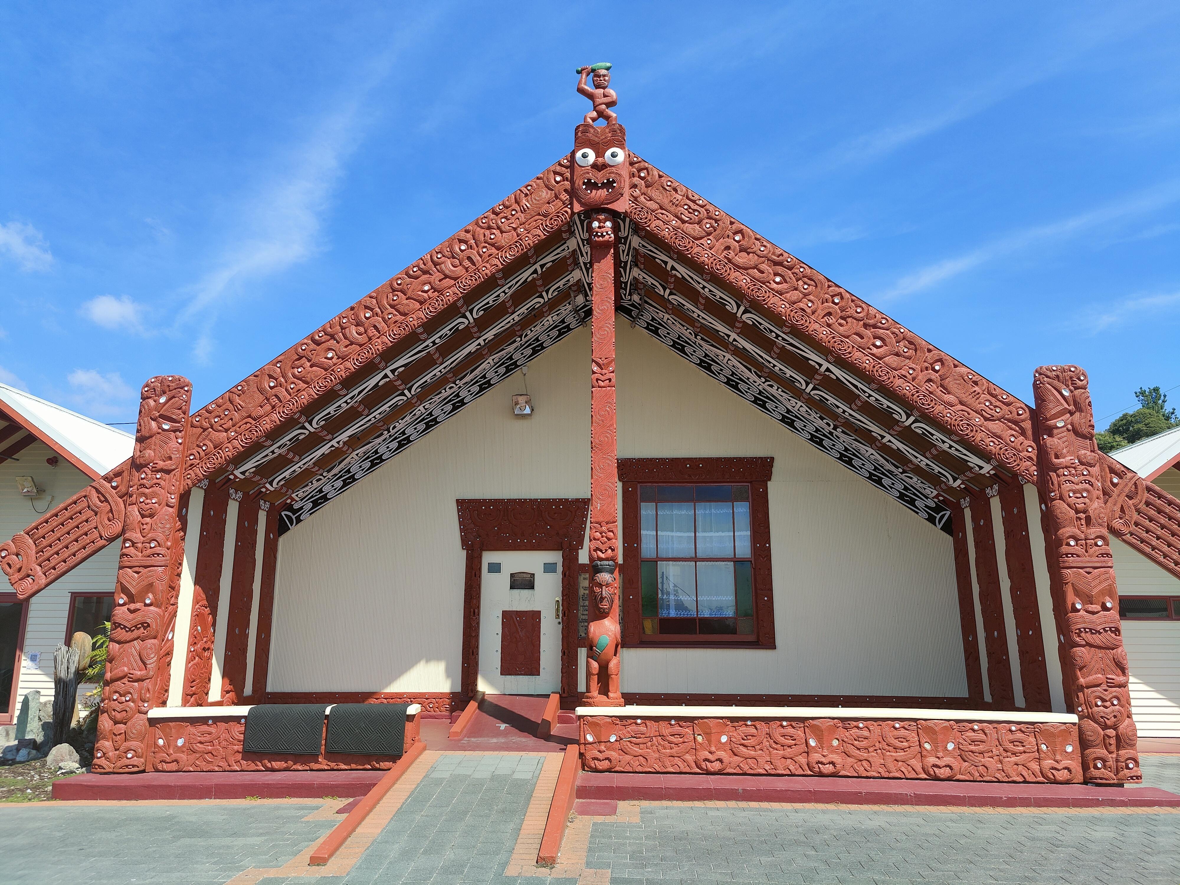 A Wharenui at Whakarewarewa Village