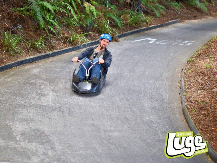 The scenic luge track at Skyline Rotorua