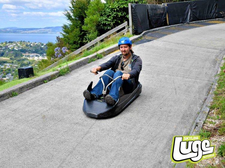 The intermediate luge track at Skyline Rotorua