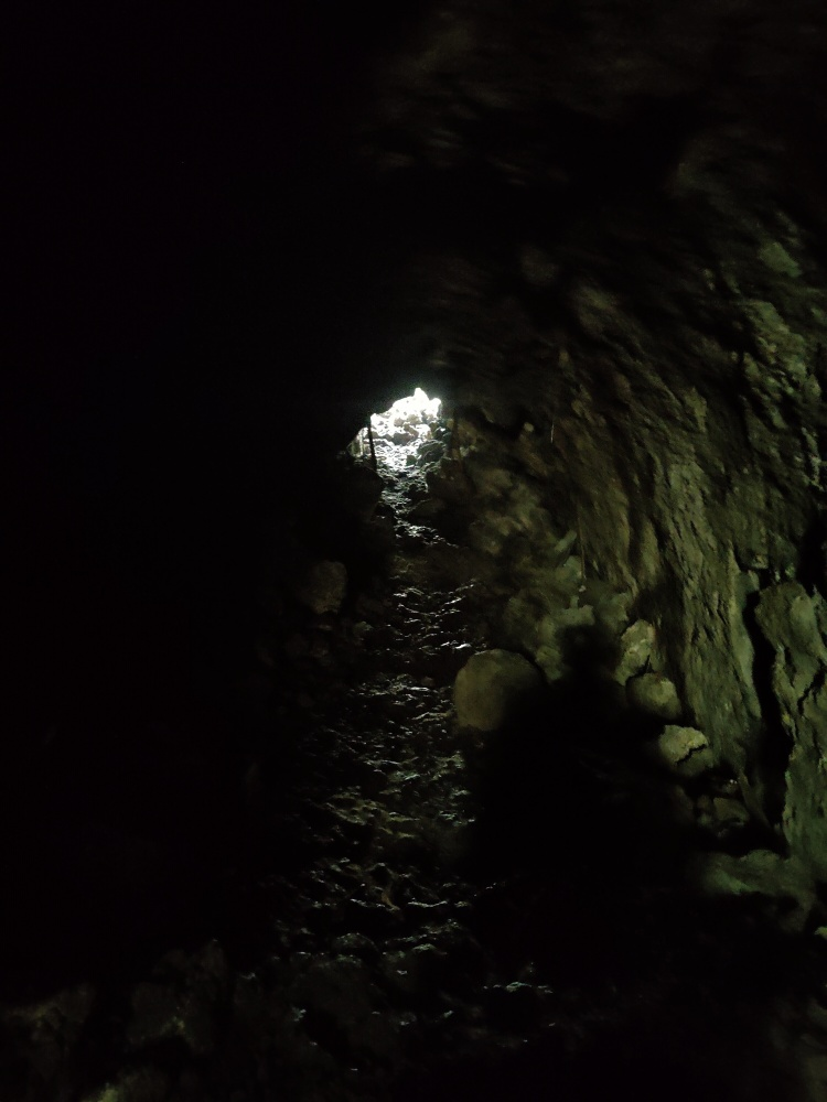 Deeper inside the lava caves on Rangitoto Island