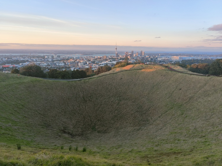 The crater at Mt Eden