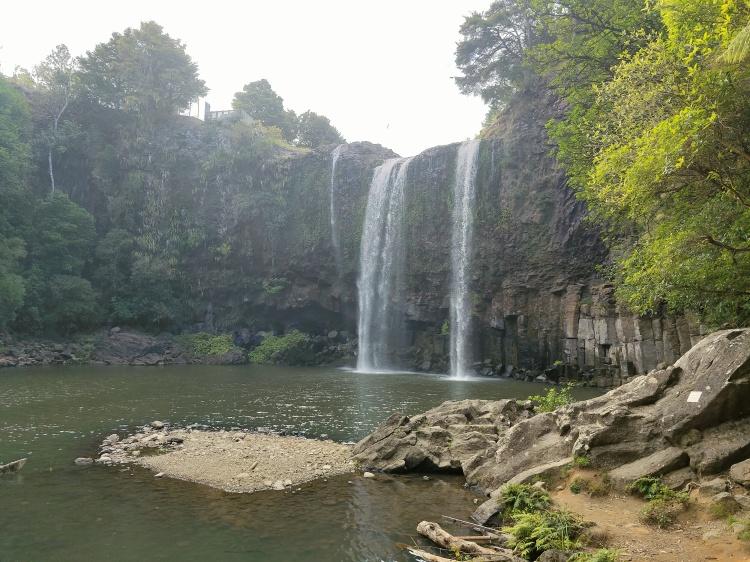 Looking across to Whangarei Falls