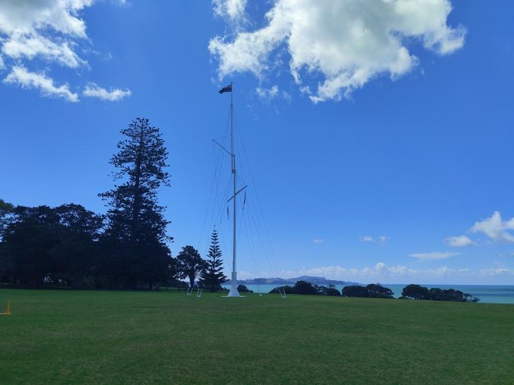 The flagpole of the Waitangi Treaty Grounds