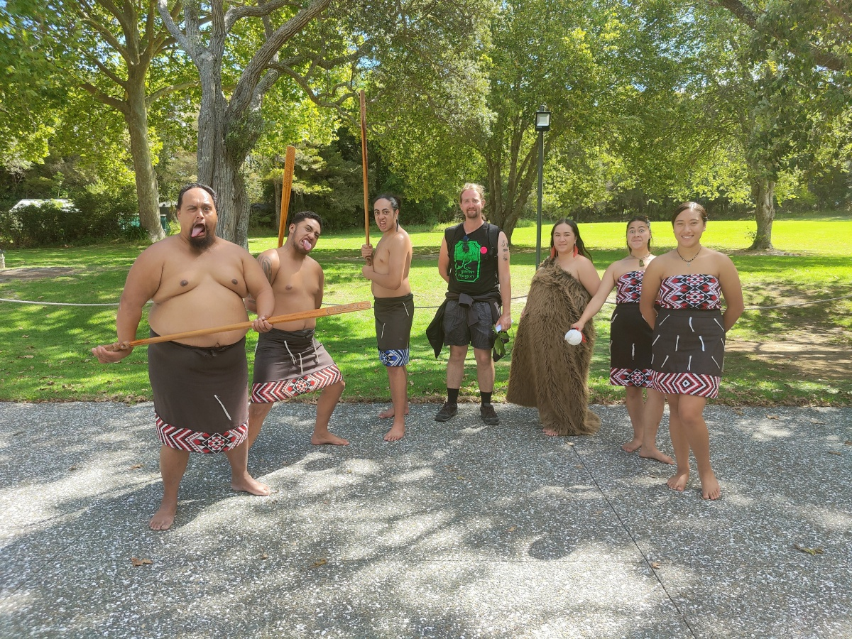 After the Māori welcome ceremony at the Waitangi Treaty Grounds
