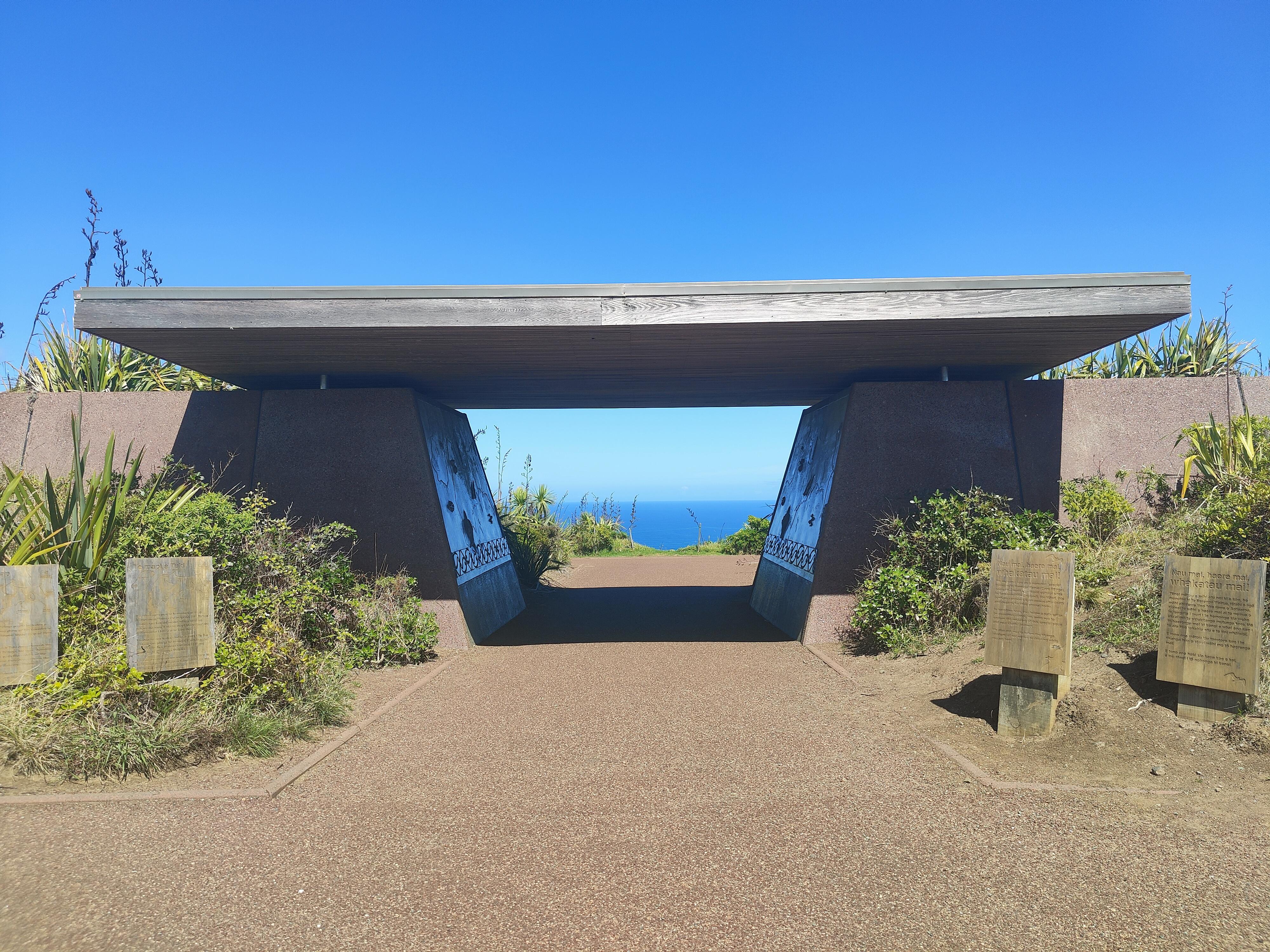 The entrance to Cape Reinga