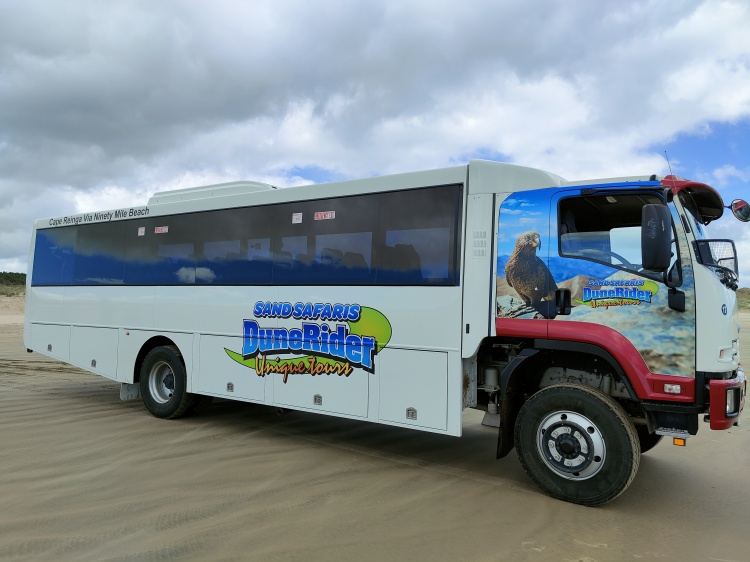 The Dune Rider 4x4 tour bus